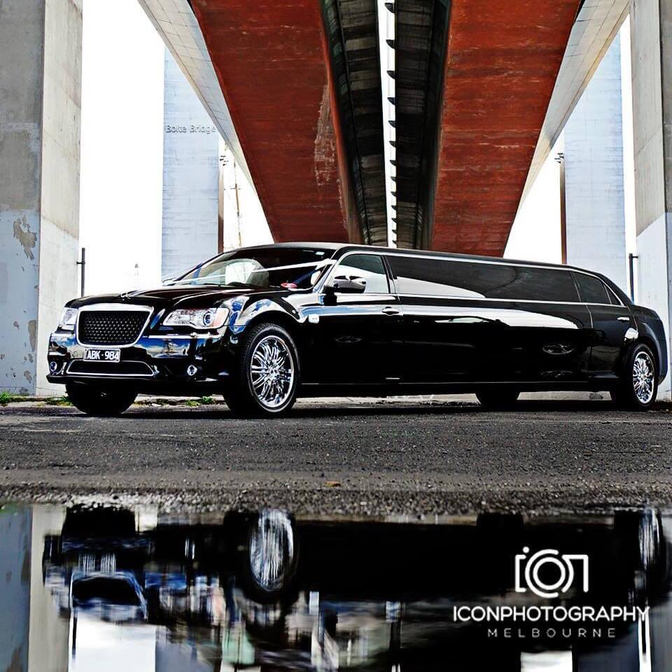 Black Chrysler luxury limousine hire