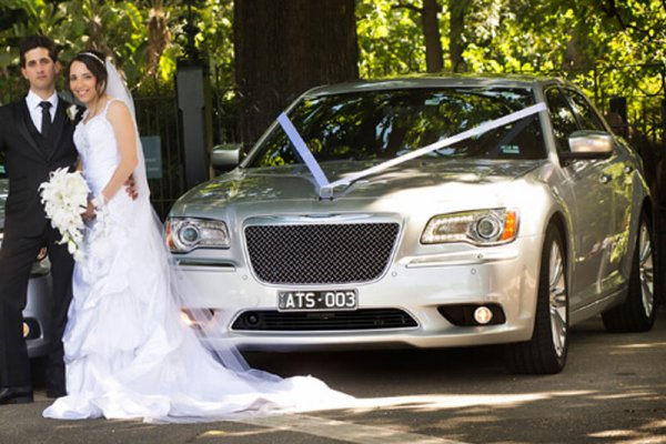 Silver Sedan Wedding Car