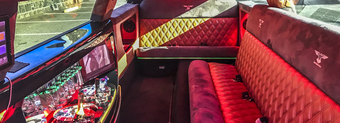 inside luxury limousine